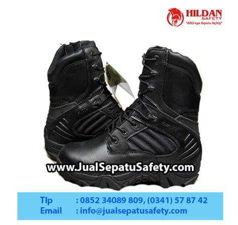 Sepatu Boots Tactical Army Outdoor Pdl Safety Ujung Besi Kickers Nmzs distributor sepatu delta forces 8 black termurah