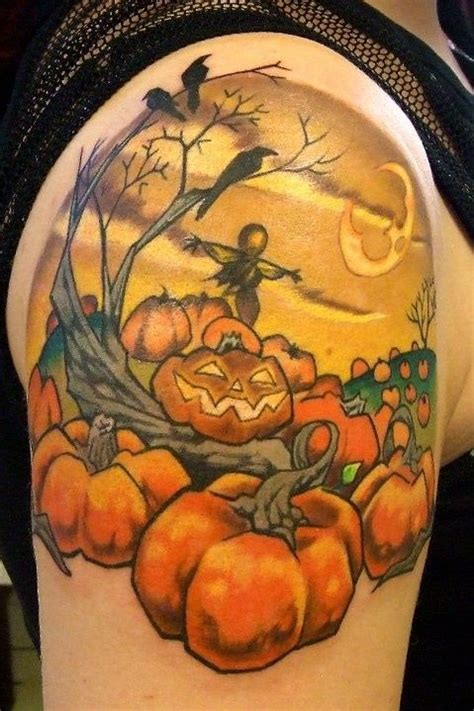 halloween pumpkin tattoo designs images designs