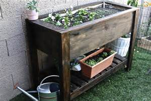Raised Planter Box Design by White Raised Planter Box Diy Projects