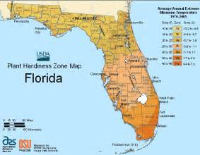 maps ta florida map of usda growing zones for florida