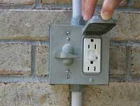 Outdoor Light With Gfci Outlet Porch Electrical Systems Wiring Receptacles Outdoor Receptacles