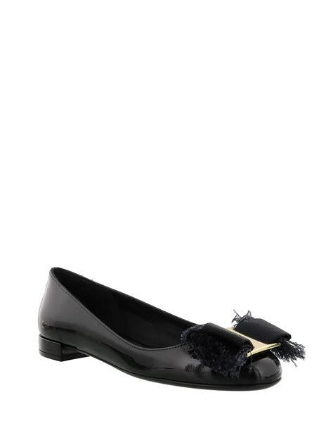 Salvatore Feragamo Flat Shoes fringe bow flat shoes by salvatore ferragamo flat shoes
