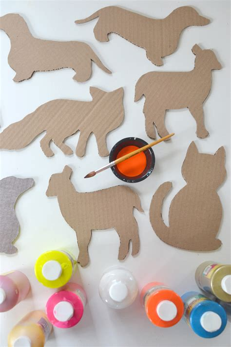 animal templates for crafts diy cardboard animals with templates animales glasses