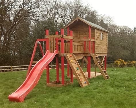 swing set with bridge deluxe tree house with bridge link slide swings ref 087t