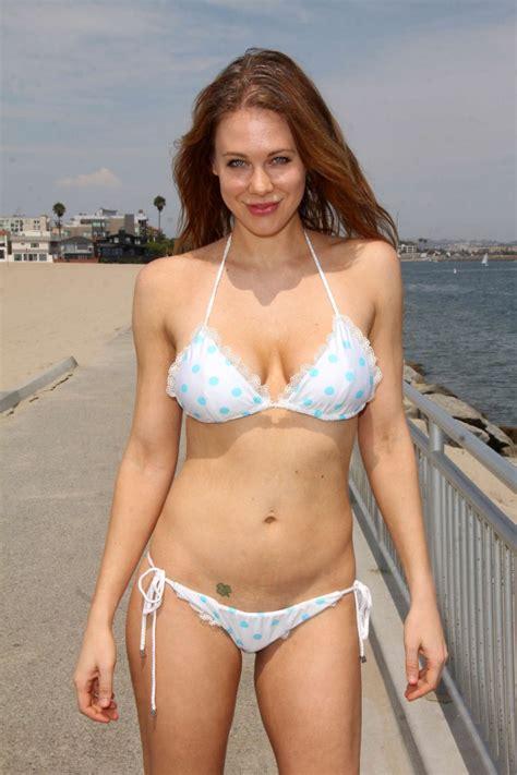 celebrity bikinis gone too far maitland ward in white bikini 13 gotceleb