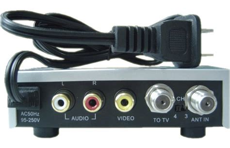 Multi Channel Rf Modulator Uhf 4 Av Input 3ch or 4ch hd rf modulator uhf vhf quality av rf