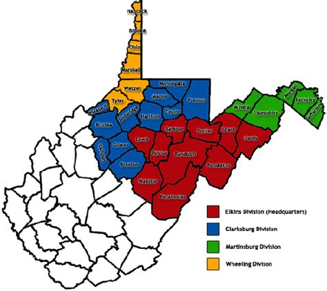 Berkeley County Wv Court Records Judicial Districts By County Southern District Of West Virginia United States