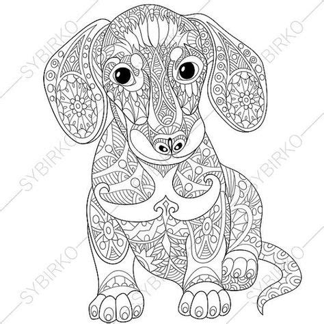 weiner dog coloring page dachshund sausage dog coloring page adult by