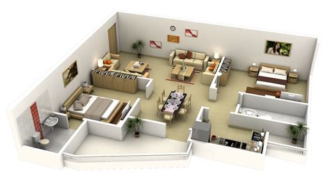 2 bedroom apt 50 3d floor plans lay out designs for 2 bedroom house or