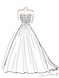 how to draw a dress french lace and tulle wedding dress by janine adamyk