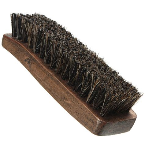elected hair brush horse hair bristles bag clothes shoe boot polish wood