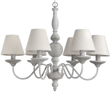 White Chandelier With Shades Chandelier With Shades From Baytree Interiors