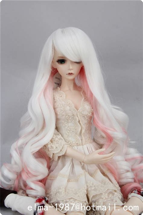 1 3 Bjd Pullip White Wig Big Horsetail Doll Hair Multi Colored Wig For Bjd 1 3 4 1 1 6 Doll Multi