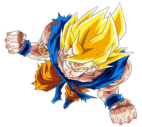 dokkan card template png goku ssj1 render dokkan battle by fradayesmarkers on
