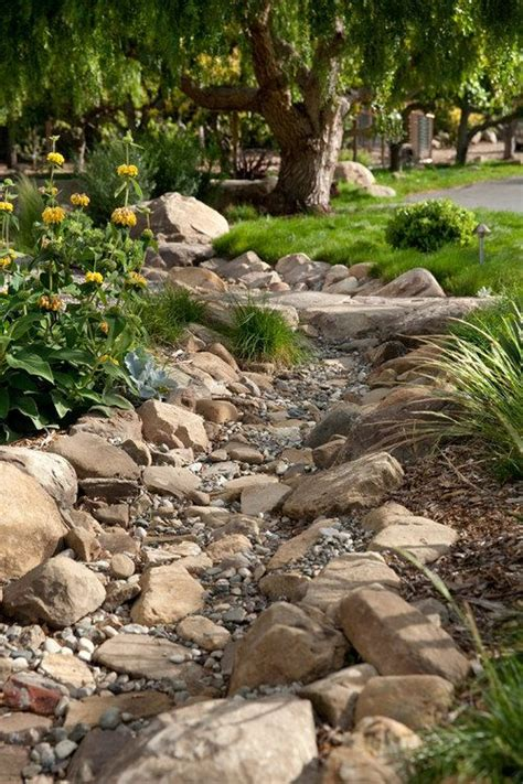 dry stream bed dry creek bed idea envy pinterest backyards the