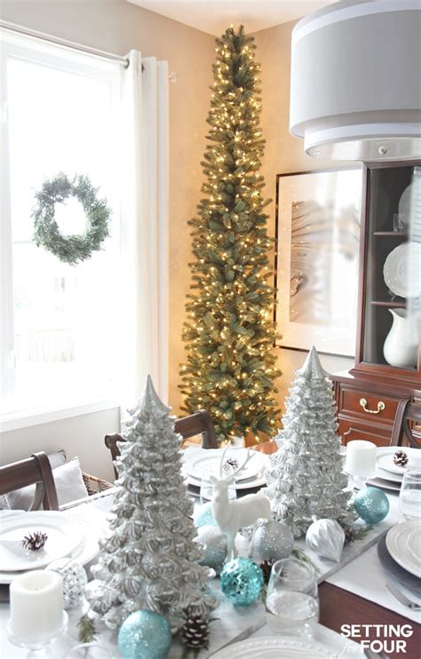 how to decorate a pencil tree for christmas a pencil tree style for narrow spaces setting for four