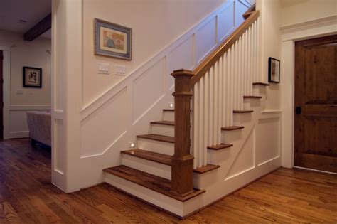 cape cod meets craftsman traditional staircase