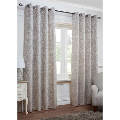 Georgia Textured Leaf Fully Lined Eyelet Curtain 66 X 72 Quot