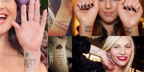 tatuaggi sul polso interno 75 modelli di tatuaggi delicati da farsi sul polso