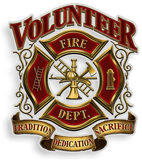 volunteer fire dept tradition decal