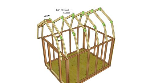 How To Build A Gambrel Roof by Barn Shed Plans Howtospecialist How To Build Step By