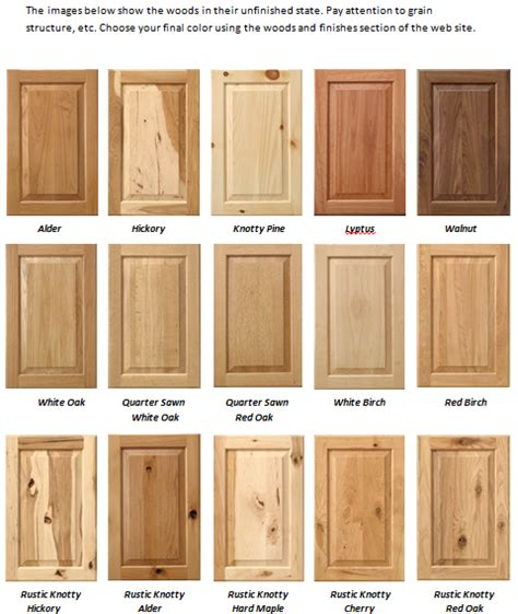 Cabinet Wood Types by 302 Found