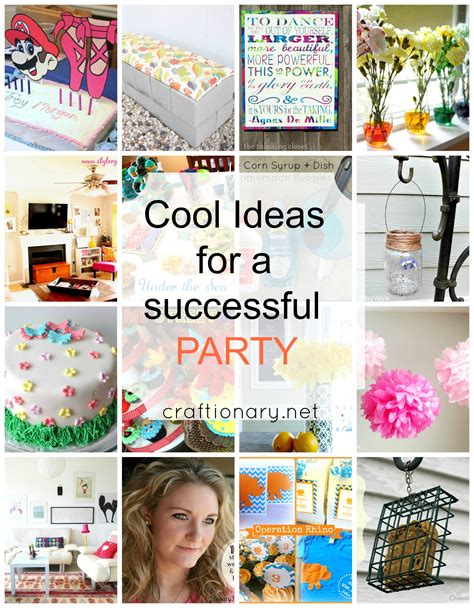 party themes cool craftionary