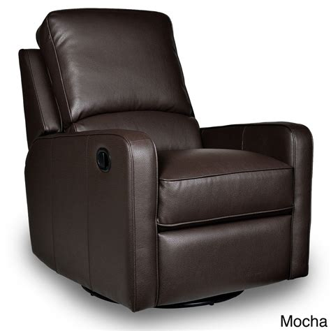 leather recliner modern swivel recliner leather perth glider chair furniture