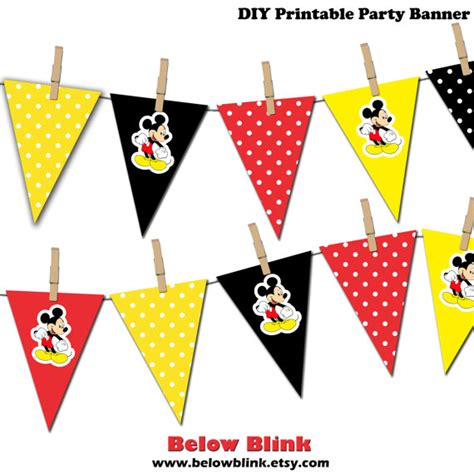 printable mickey mouse birthday banner mickey mouse banner mickey mouse printable party banner