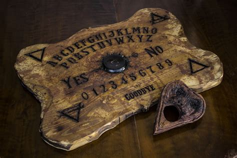 Handmade Ouija Boards - real ouija board wood sculpted by orionoddities