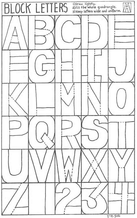 Block Letters Abc Printables Pinterest Letters Box Letter Template