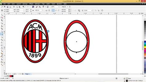 corel draw x5 tutorial logo design tutorial corel draw membuat logo ac milan tutorial corel