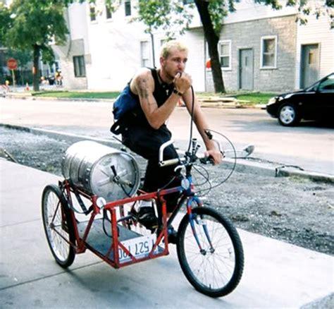 bike brewery hauling on sidecar bike trailers and bikes