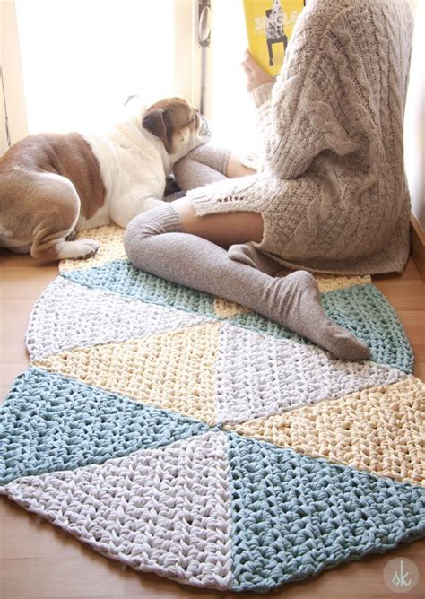 alfombra xxl crochet alfombra de ganchillo xxl triangular free pattern