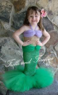 Items similar to little mermaid tutu costume set w flower hair clip