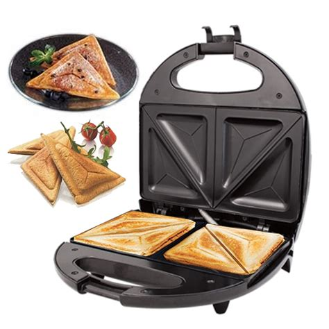 Toaster Sandwich black electric 2 slice sandwich toast toaster maker 700w
