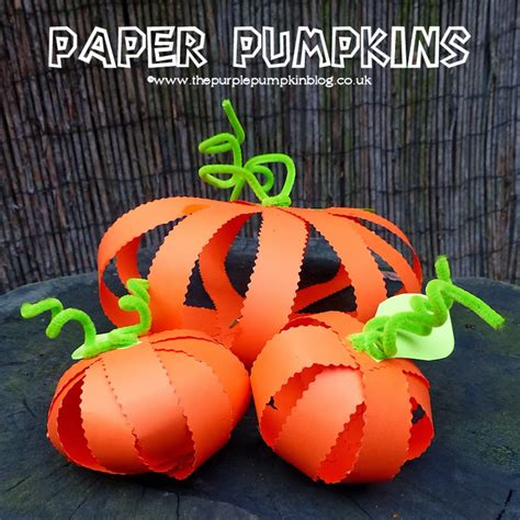 How To Make Paper Pumpkins - paper pumpkins