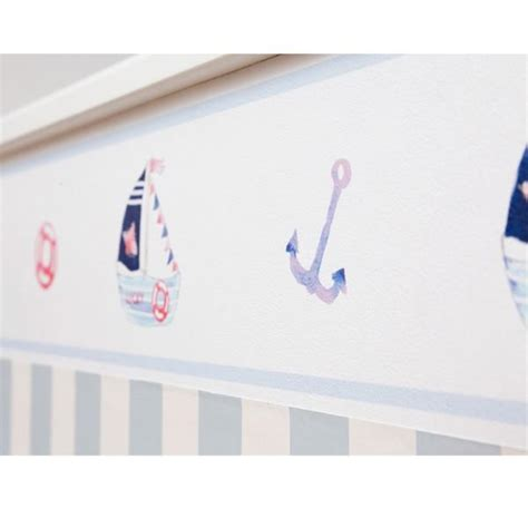 bordure kinderzimmer segelboot hansekind kinderzimmerbord 252 re segelboot blau wandsticker