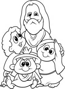 childrens coloring pages jesus the children coloring pages coloring home