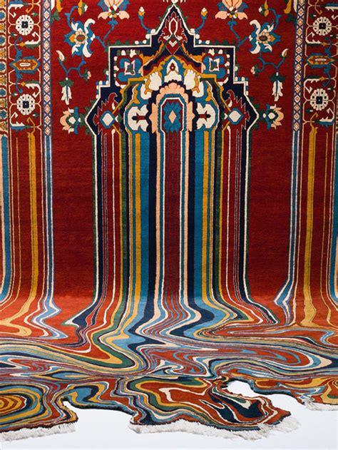alfombras contemporaneas defectuosas  partir de los tradicionales textiles azerbaiyanos por