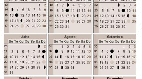 Calendario Lunar Julho 2017 Calend 225 Lunar 2016