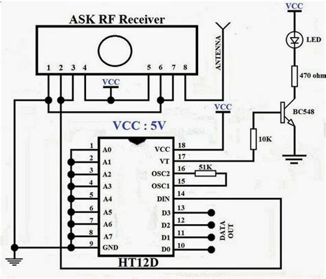 radio remote circuit diagram radio frequency rf remote circuit gadgetronicx