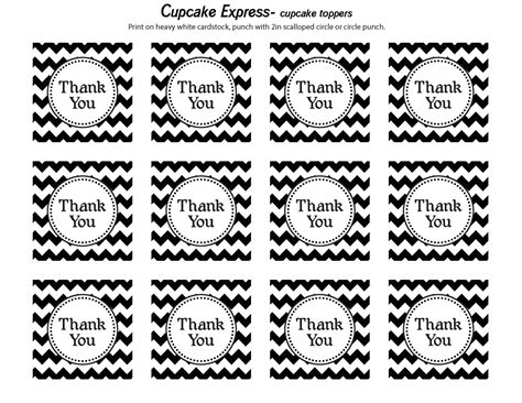 printable thank you tags pinterest cupcake express happy monday free thank you tags