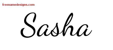 sasha archives free name designs