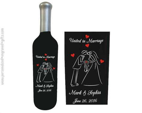 Engraved Wedding Gifts by Engraved Wine Bottles For Anniversaries Weddings