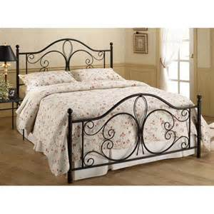 King Wrought Iron Bed Frame King Metal Bed Scrolled Frame Antique Brown Cast Iron Rail Headboard Footboard Ebay