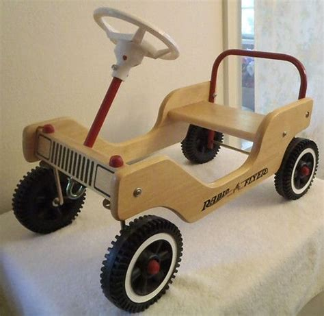 radio flyer little wooden push car ride indoors outdoors