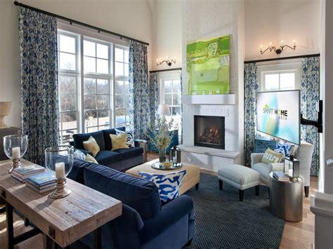 hgtv smart home great room  large wall  windows