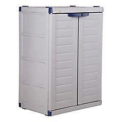 armario homecenter armario 90x45x65 cm pl 225 stico gris sodimac
