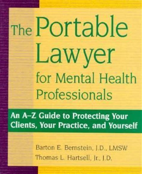 the a z guide for promoting your self published book books portable lawyer for mental health professionals an a z